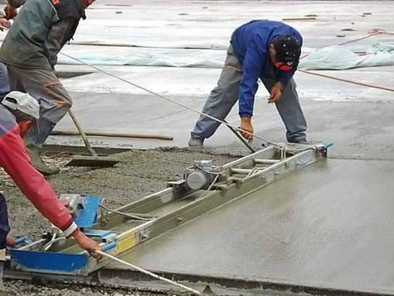 укладка бетона цена